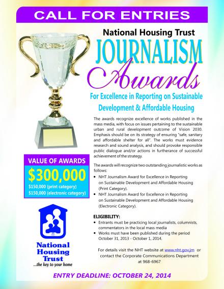 NHT Journalism Award